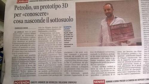 la Quattrocchi viene in Basilicata per far vedere in 3D come è fatto un pozzo petrolifero non per informare sugli impatti ed i rischi connessi