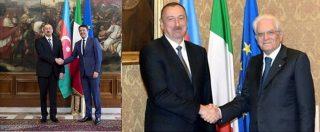 il dittaore azero con Renzi e Mattarella - fonte ambasciata italiana